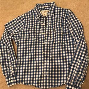 Blur& White buffalo check Abercrombie button up